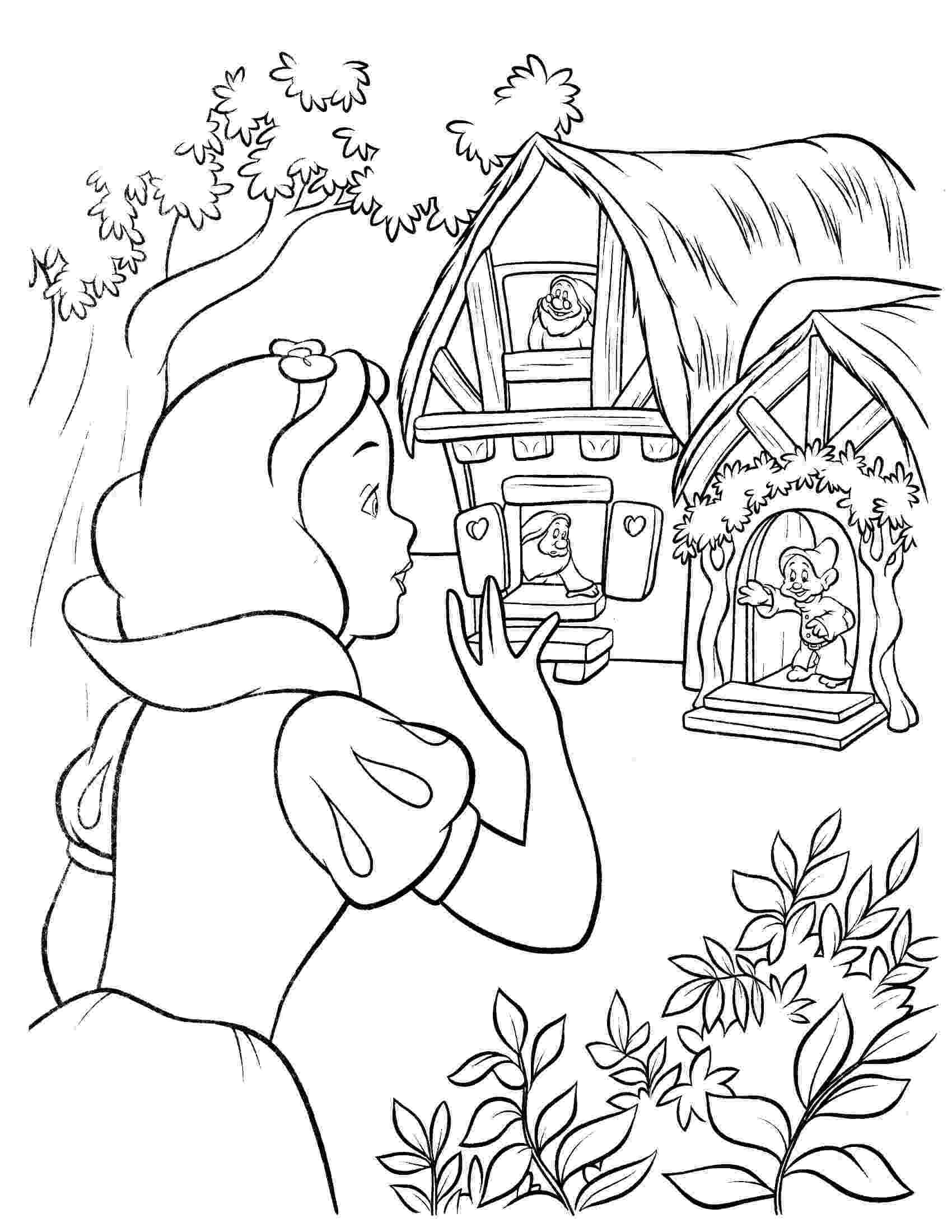 snow white coloring snow white and the seven dwarfs coloring pages 5 coloring snow white
