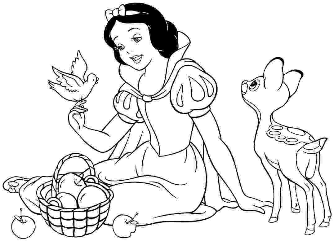 snow white coloring snow white coloring pages from disney princess cartoon snow coloring white