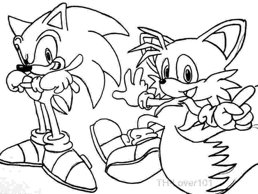 sonic and tails coloring pages tails coloring pages coloring home tails and sonic pages coloring