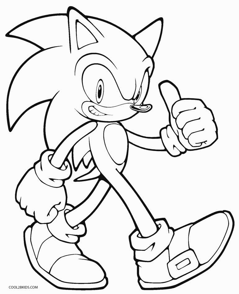 sonic coloring page free printable sonic the hedgehog coloring pages for kids sonic coloring page 1 1