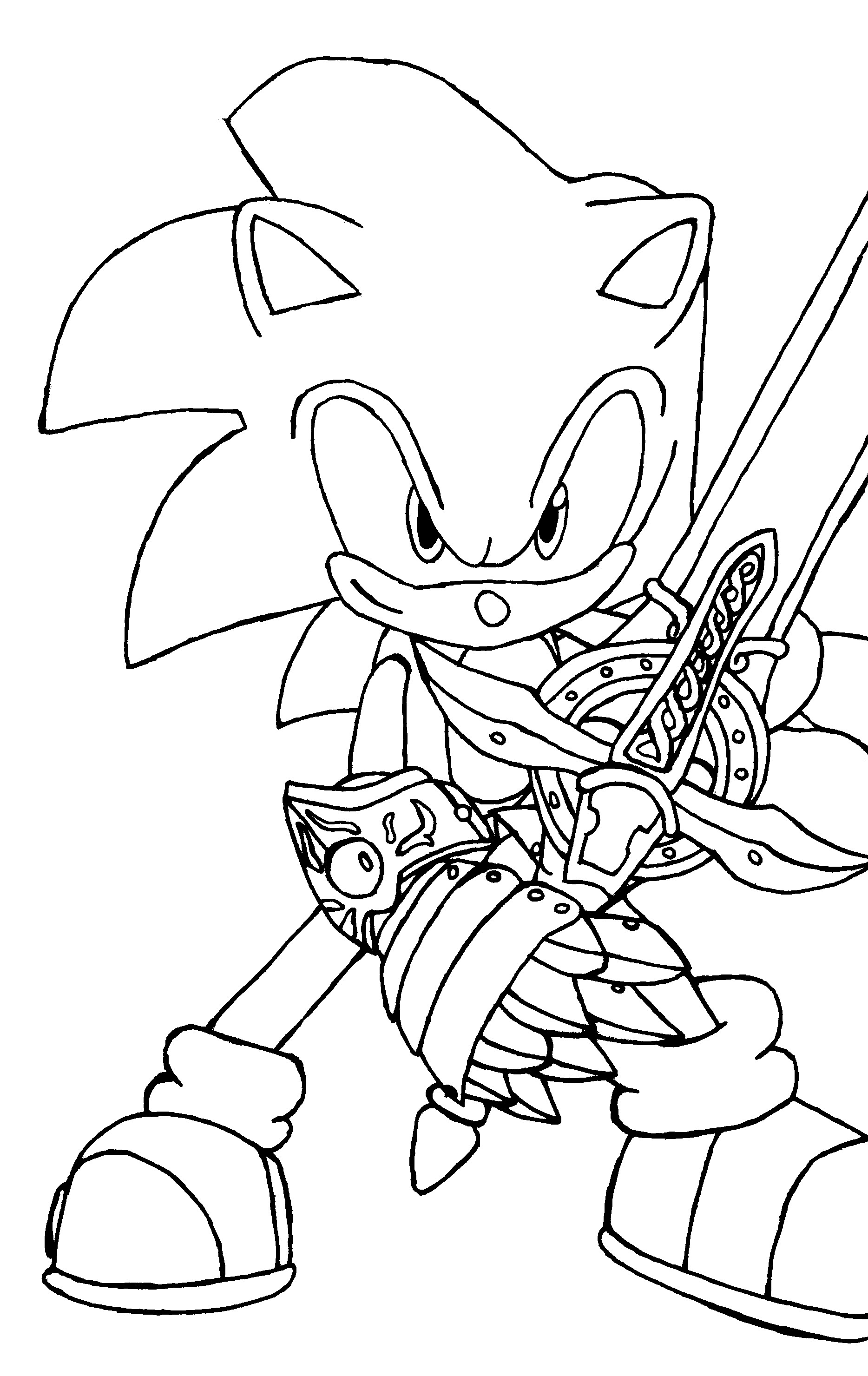 sonic coloring page printable sonic coloring pages for kids cool2bkids page sonic coloring