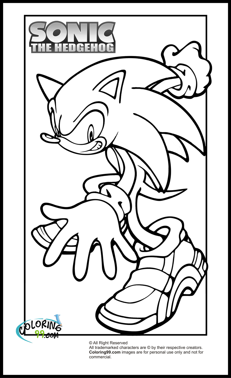 sonic coloring page sonic coloring pages team colors coloring page sonic