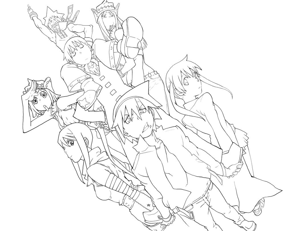 soul eater colouring pages printable soul eater coloring pages for kids cool2bkids colouring soul pages eater