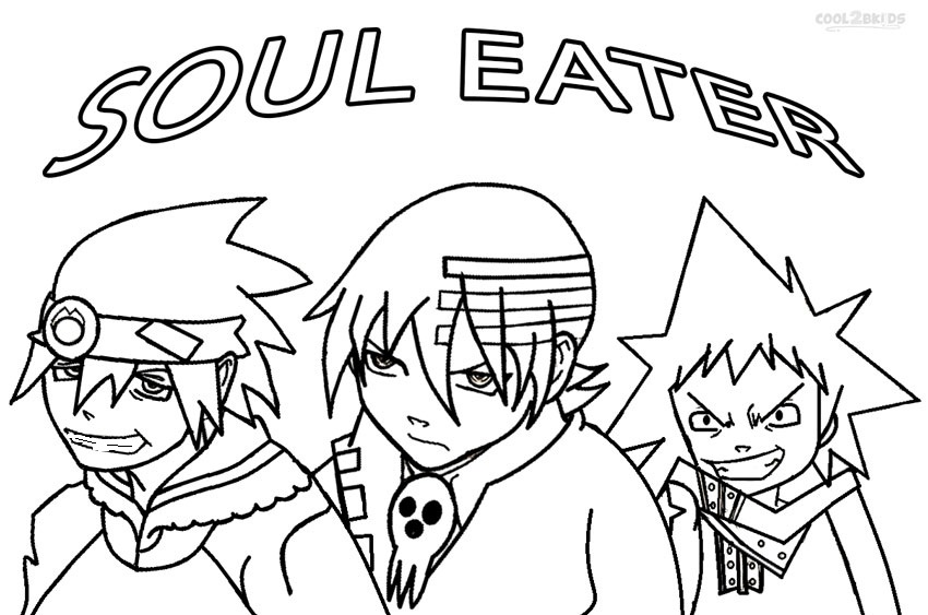soul eater colouring pages printable soul eater coloring pages for kids cool2bkids soul eater colouring pages