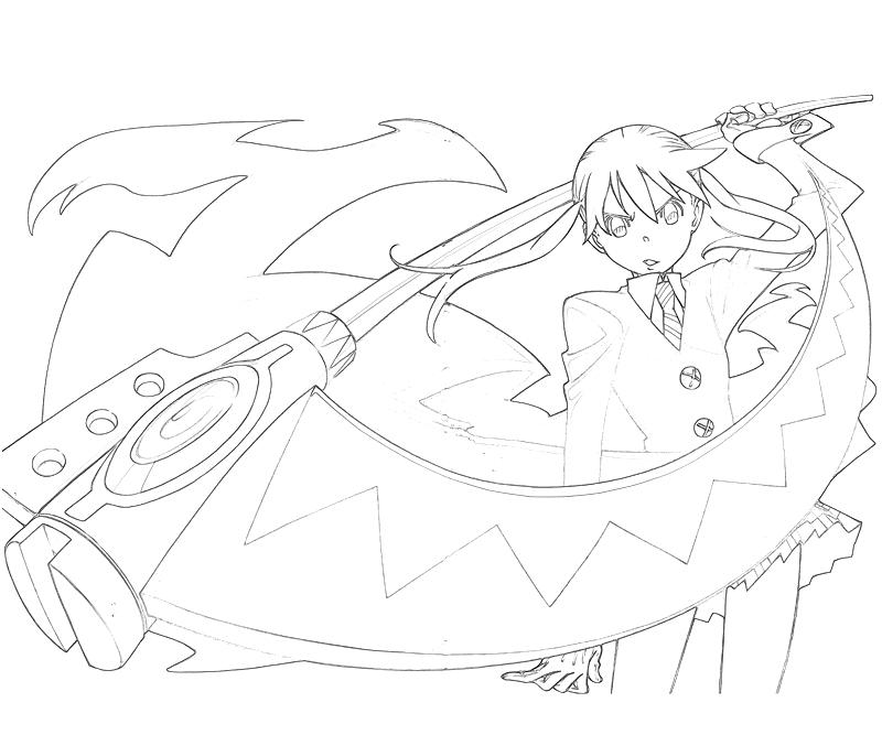 soul eater colouring pages soul eater coloring pages maka coloringmecom eater soul pages colouring