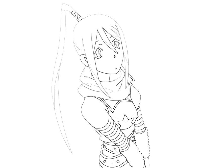 soul eater colouring pages soul eater tsubaki nakatsukasa character tubing eater colouring soul pages