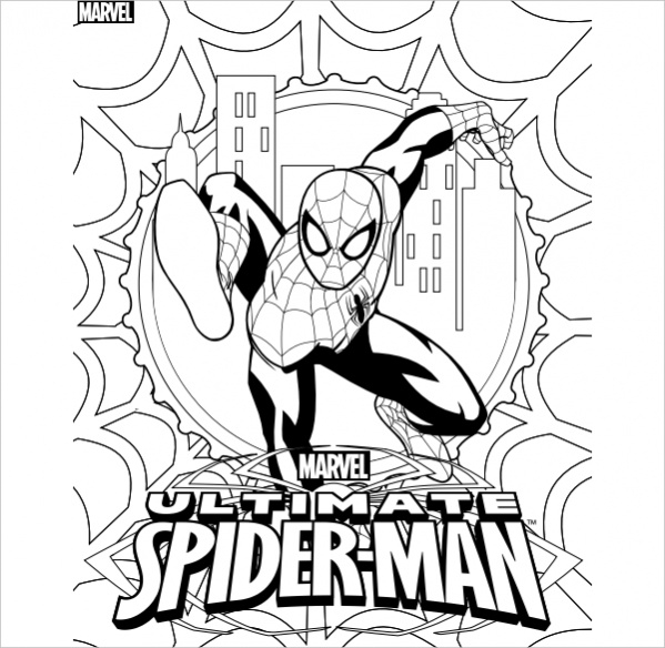 spiderman coloring page 20 spiderman coloring pages jpg psd ai illustrator download page coloring spiderman