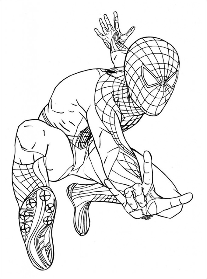 spiderman coloring page spiderman homecoming coloring pages at getcoloringscom free printable colorings coloring page spiderman