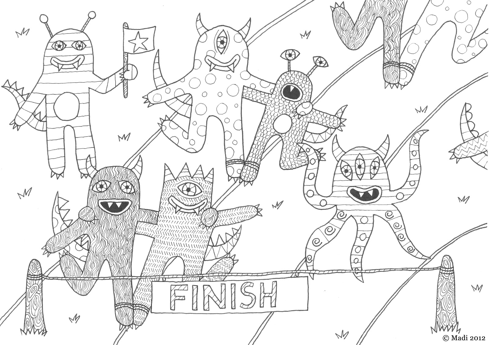 sports day colouring egg and spoon race colouring page colouring sports day