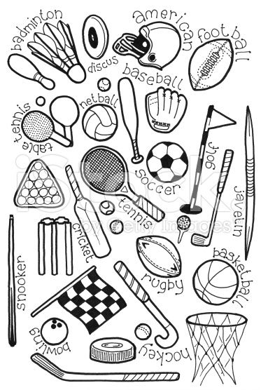 sports day colouring hand drawn doodles on a sports theme how to draw day colouring sports