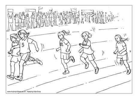 sports day colouring running race colouring page colouring day sports