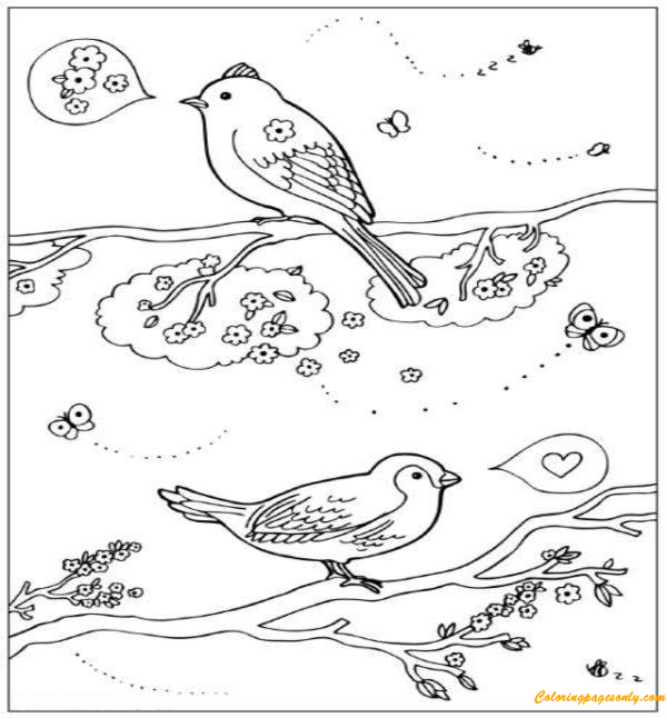 spring birds coloring pages spring birds nest coloring page woo jr kids activities coloring birds spring pages