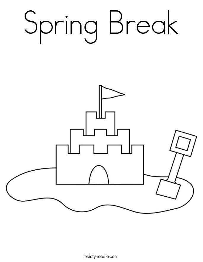 spring break coloring pages happy spring break coloring page twisty noodle coloring pages spring break