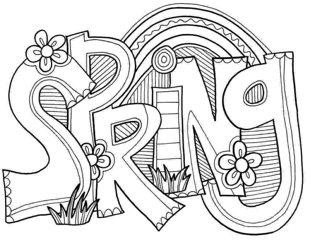 spring coloring pages spring seasons janice39s daycare coloring pages spring