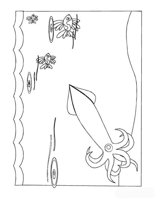 squid coloring pages squid coloring pages to printable marine animals pages coloring squid