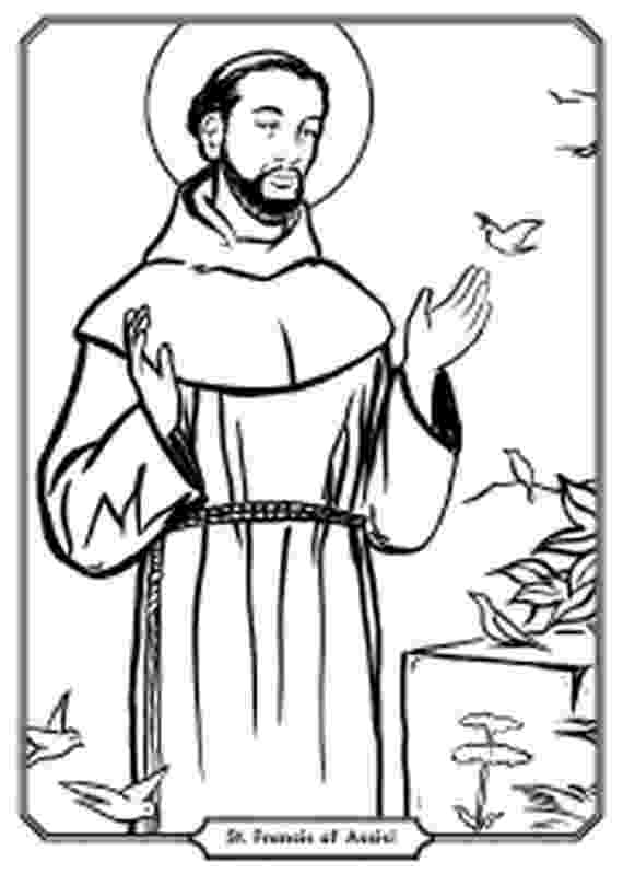 st francis coloring page 26 best st francis of assisi images catholic crafts page coloring st francis