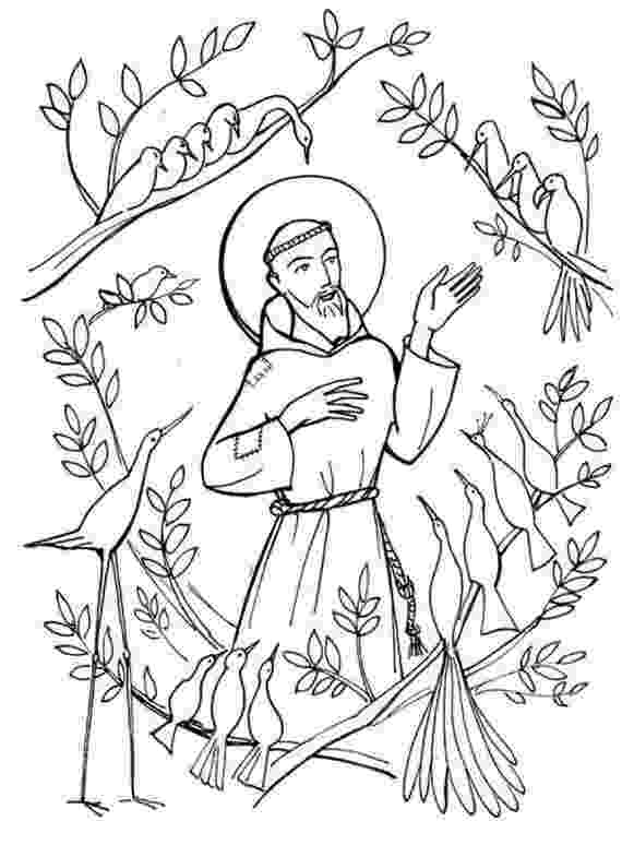 st francis coloring page look to him and be radiant 12 ideas for celebrating all page coloring francis st