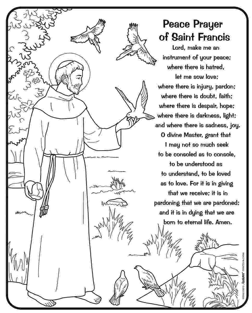 st francis coloring page pin by angie taylor on religious ed st francis assisi coloring st page francis