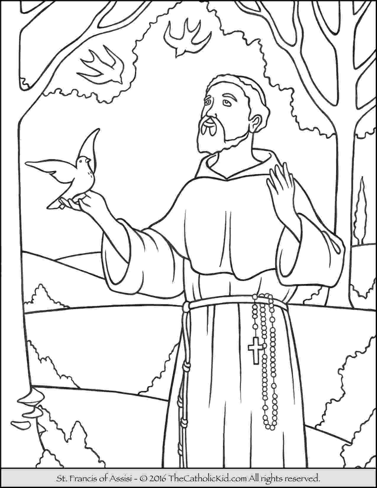 st francis coloring page saint francis coloring page st francis coloring page