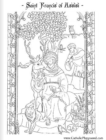 st francis coloring page saint francis of assisi coloring online super coloring page st coloring francis