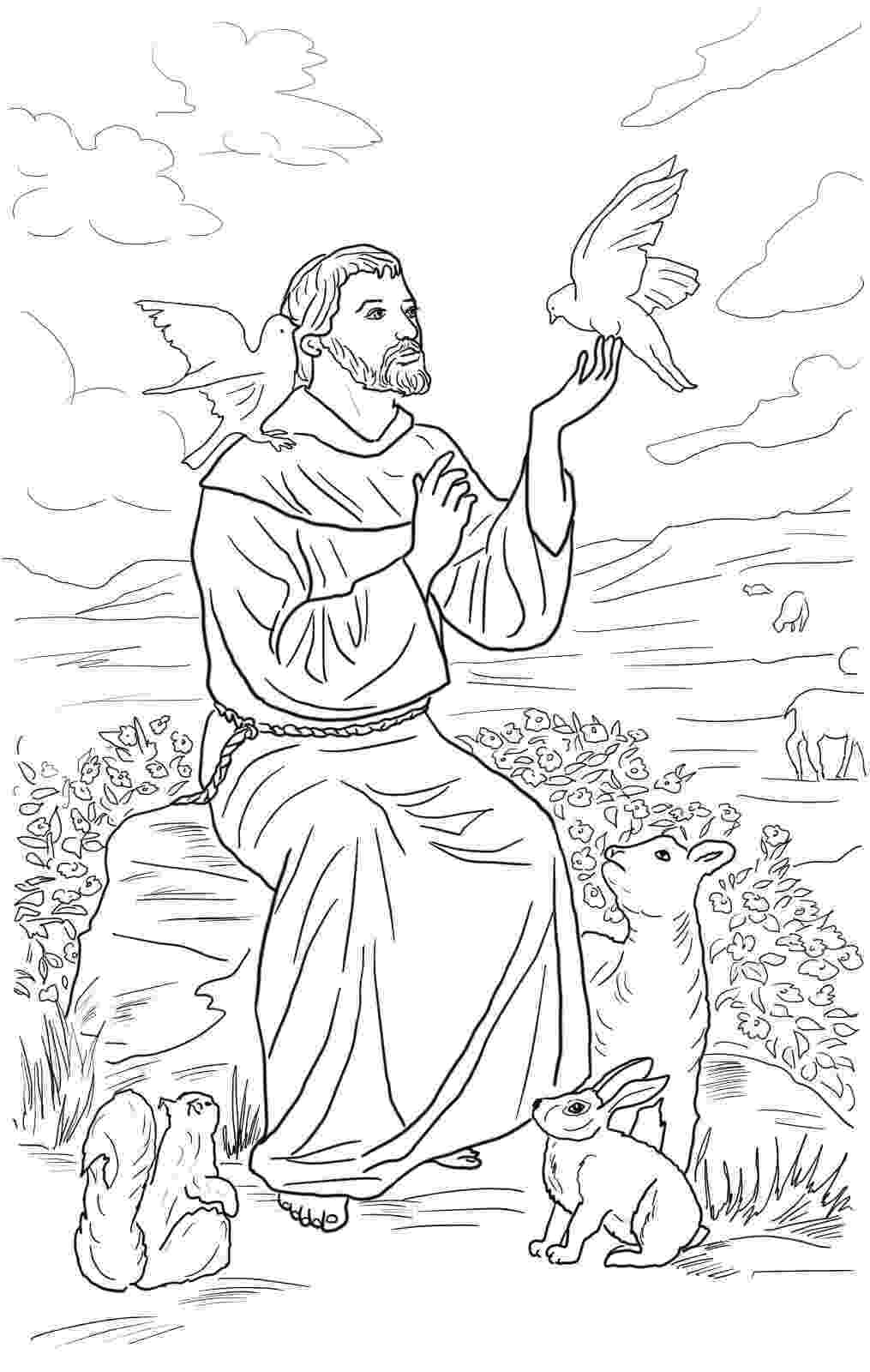 st francis coloring page saint francis of assisi coloring pages worksheet school francis st coloring page