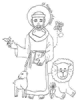 st francis coloring page saints coloring pages st page coloring francis