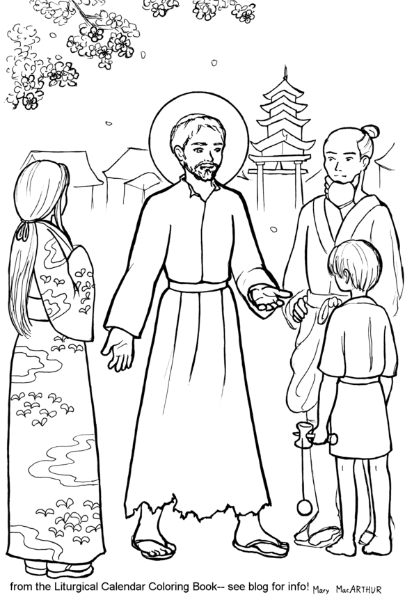 st francis coloring page st francis of assisi coloring page free printable st page coloring francis