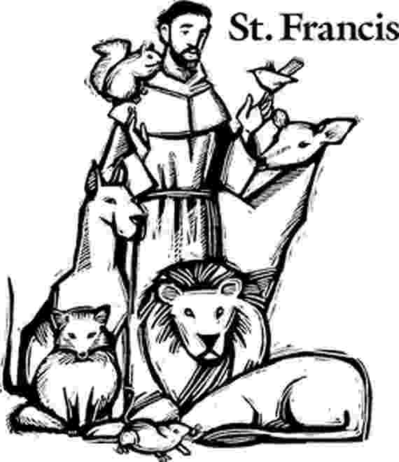 st francis coloring page st francis of assisi coloring pages for catholic kids francis coloring page st