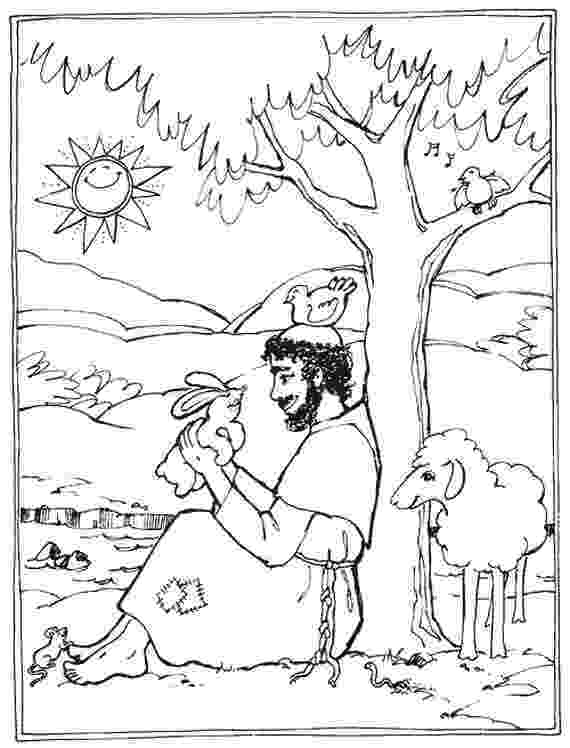 st francis coloring page st francis of assisi coloring pages for catholic kids st francis coloring page