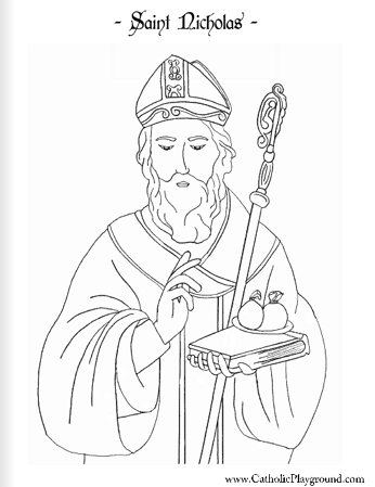 st nicholas coloring page christmas winter activities st nicholas coloring page page coloring nicholas st