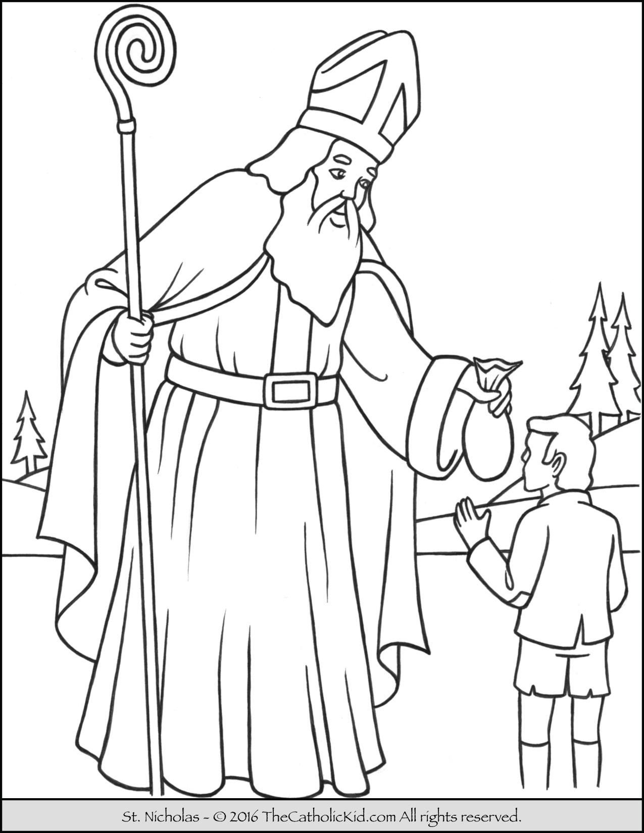 st nicholas coloring page st nicholas christmas coloring coloring pages page coloring st nicholas