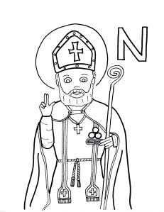 st nicholas coloring page st nicholas coloring page christmasho ho ho coloring page st nicholas