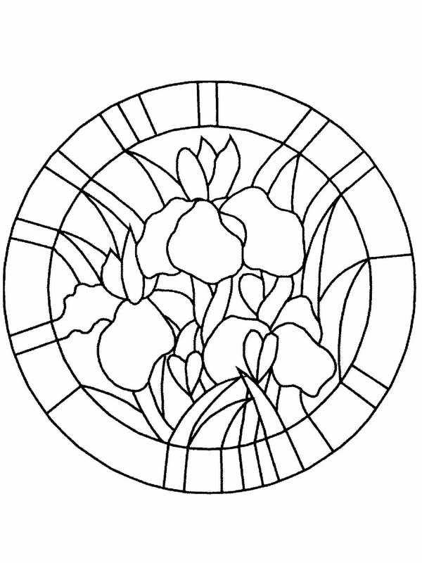 stained glass coloring page flower vase stained glass coloring page free printable coloring page stained glass