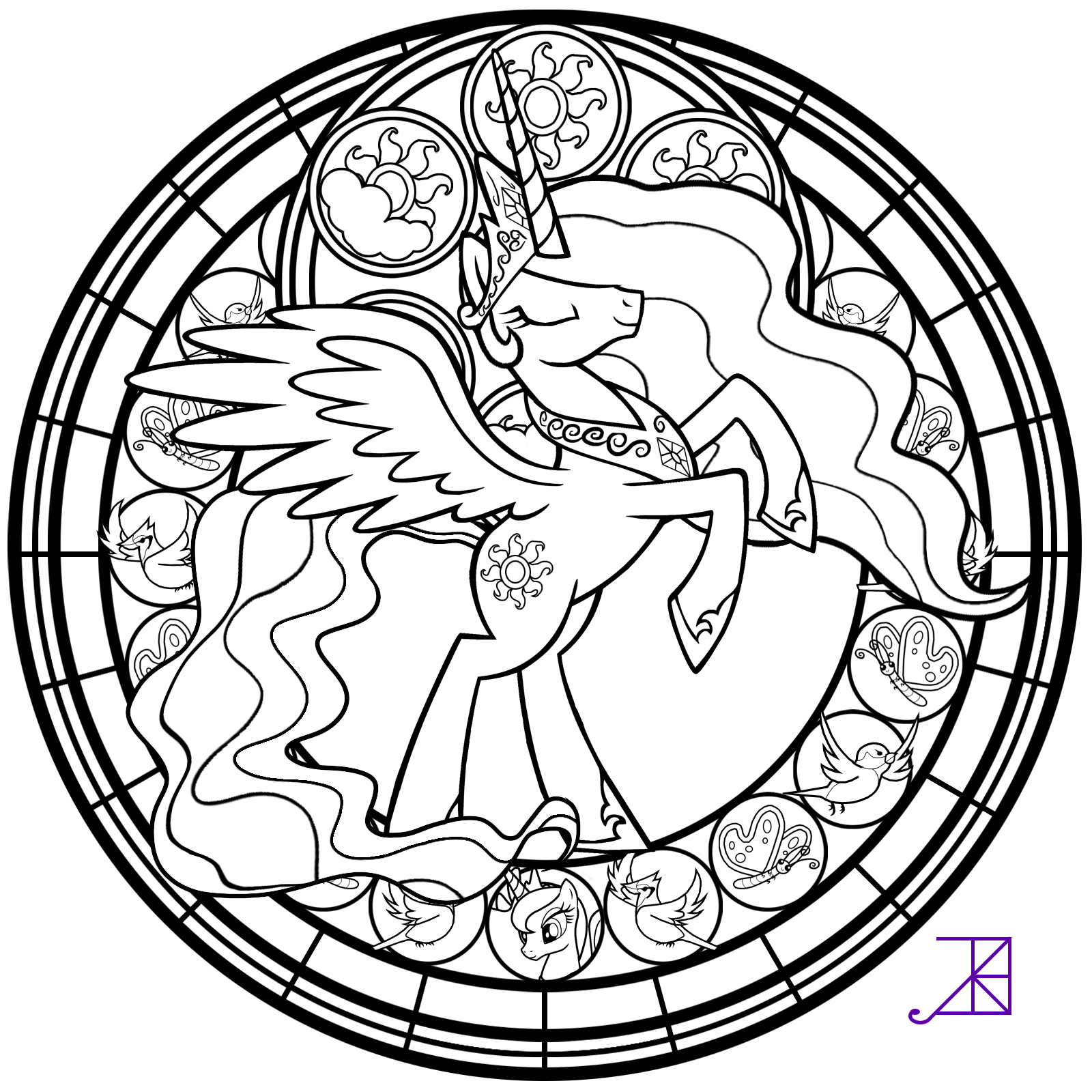 stained glass coloring page poniacze stained glass glass coloring stained page