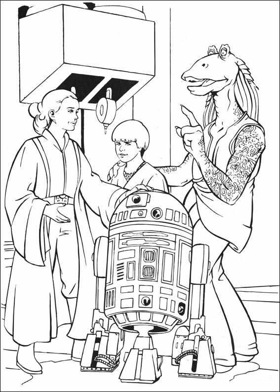 star wars phantom menace coloring pages nute gunray and rune haako coloring page supercoloringcom coloring phantom menace wars star pages