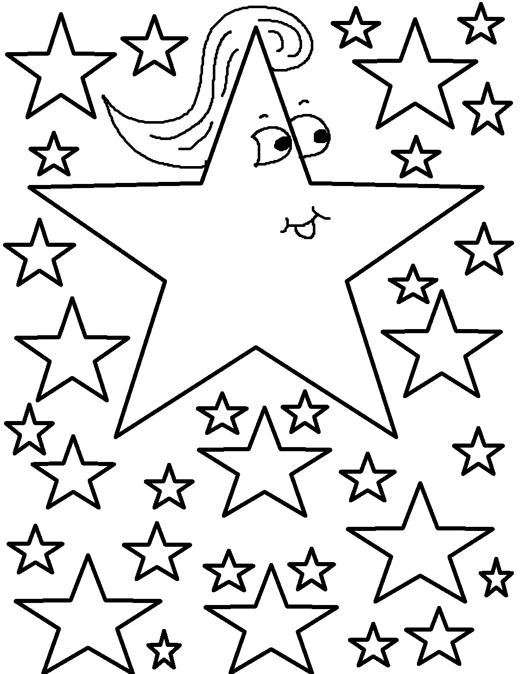 stars coloring pages kindergarten worksheet guide pictures clip art line coloring stars pages