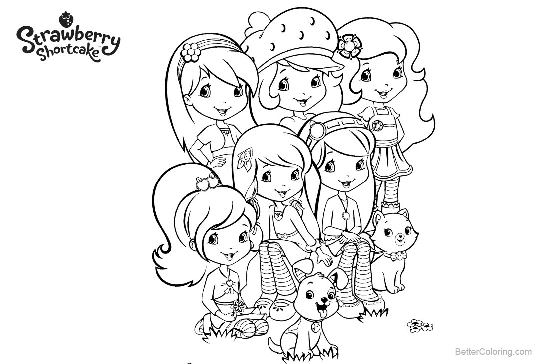 strawberry shortcake characters coloring pages free printable strawberry shortcake coloring pages for kids strawberry shortcake characters pages coloring