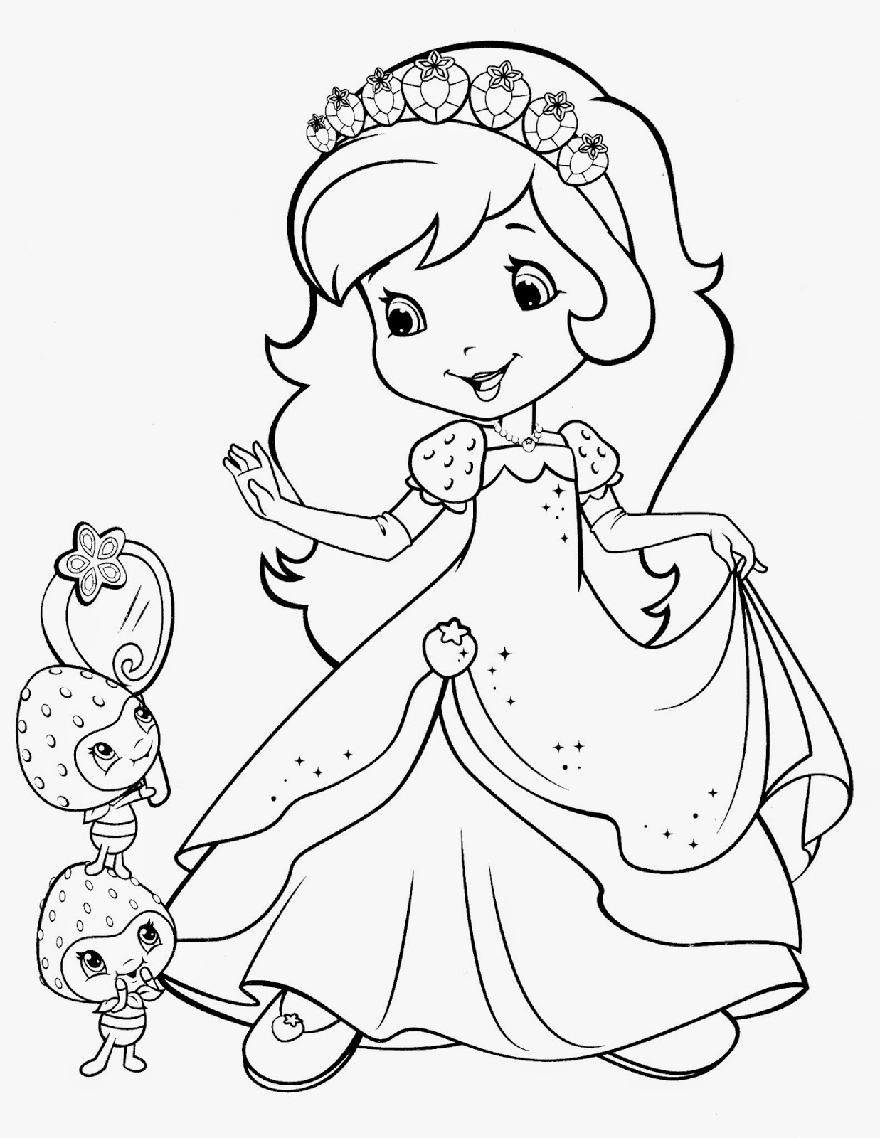 strawberry shortcake characters coloring pages fresa para colorear shortcake strawberry shortcake characters shortcake strawberry coloring pages
