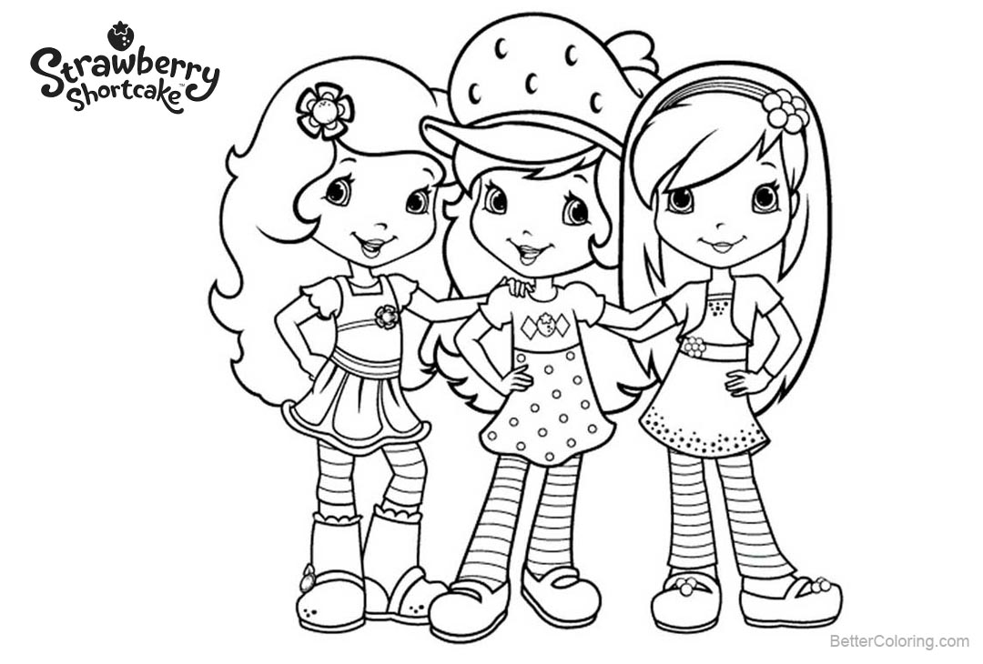 strawberry shortcake characters coloring pages strawberry shortcake coloring pages getcoloringpagescom pages strawberry shortcake characters coloring