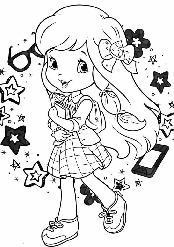 strawberry shortcake characters coloring pages strawberry shortcake sitting coloring page free shortcake characters pages strawberry coloring