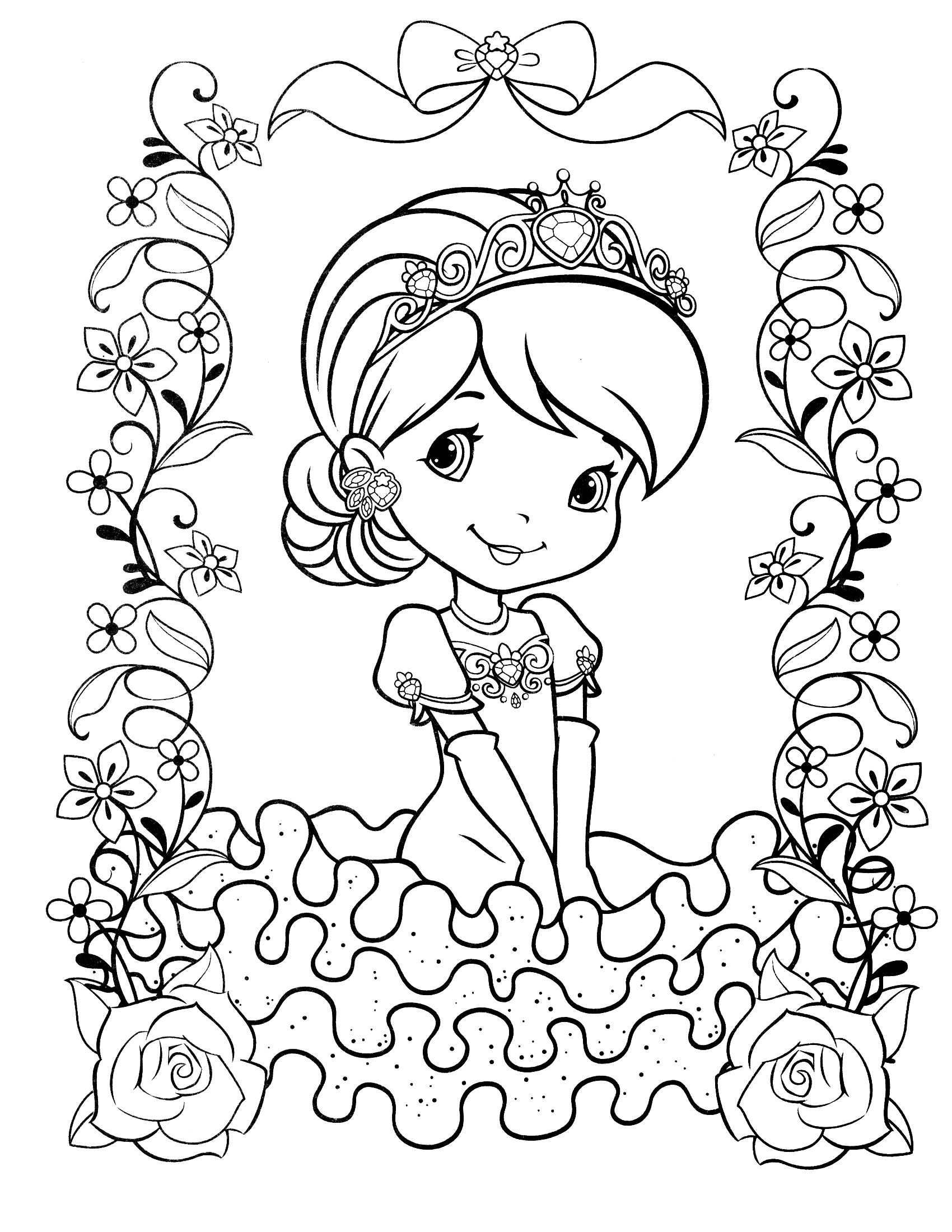 strawberry shortcake coloring pages for kids strawberry shortcake strawberry shortcake coloring pages kids shortcake pages coloring for strawberry