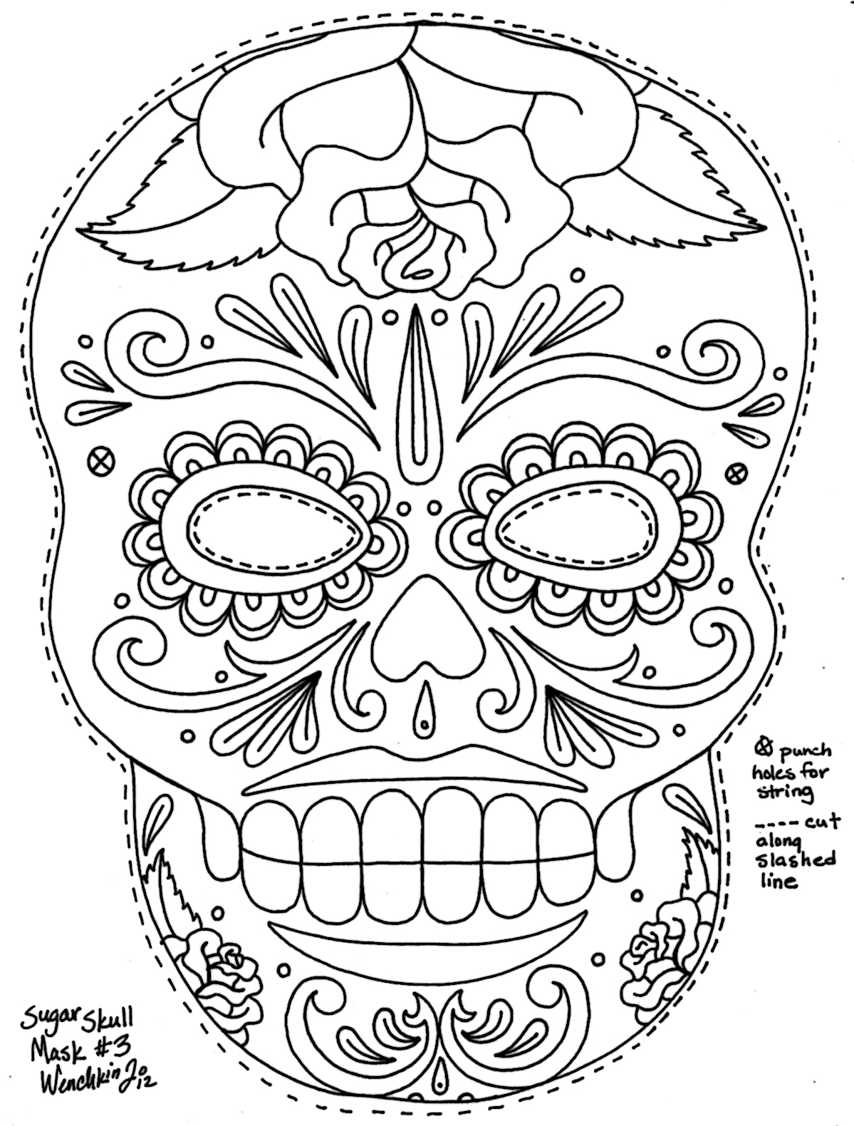 sugar skull coloring pages printable free printable skull coloring pages for kids coloring sugar skull pages printable