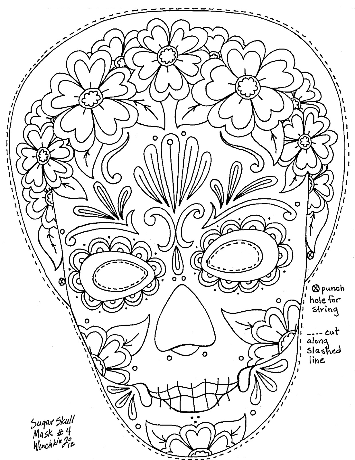 sugar skull coloring pages printable free printable skull coloring pages for kids pages printable coloring skull sugar