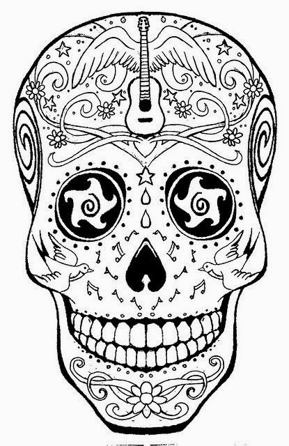 sugar skull coloring pages printable sugar skull coloring page coloring home coloring pages skull printable sugar