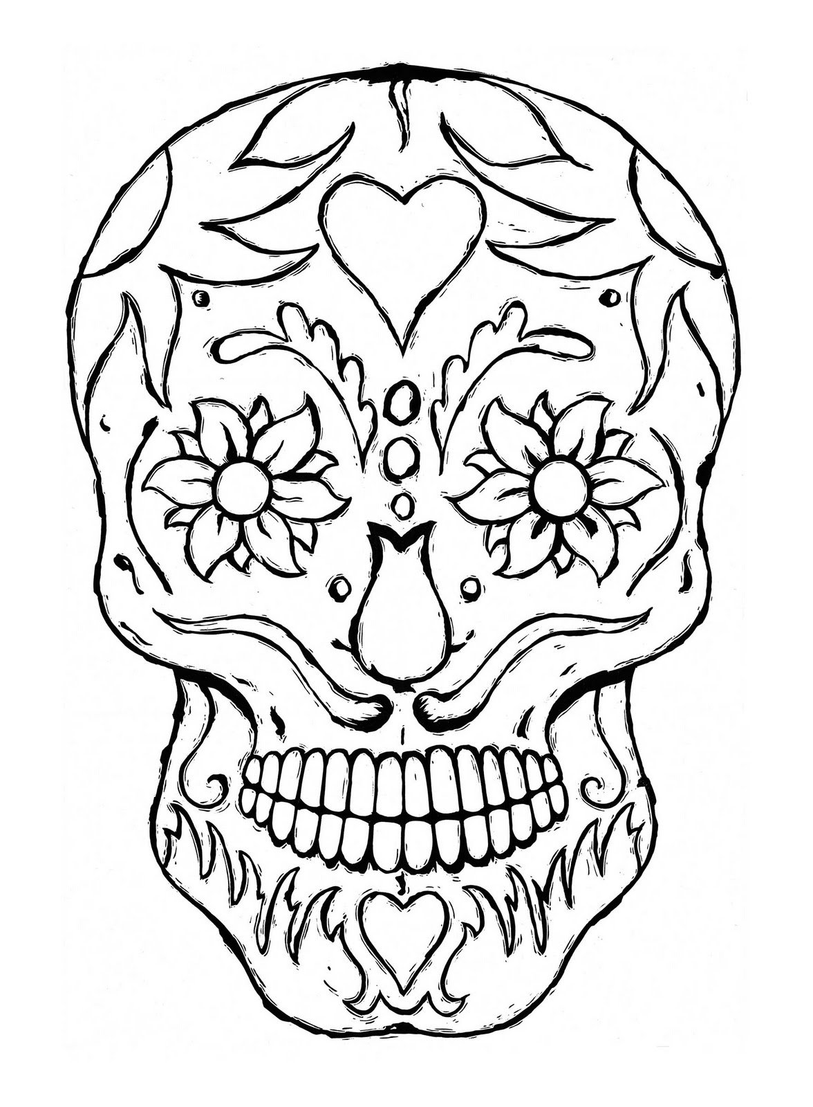 sugar skull coloring pages printable sugar skull coloring page crayolacom printable skull pages coloring sugar
