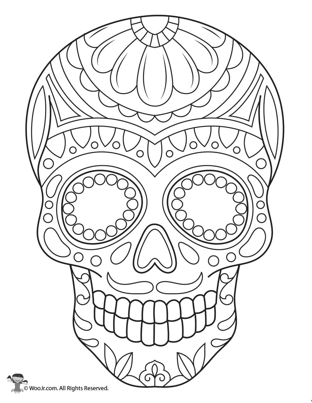 sugar skull coloring pages printable sugar skull coloring page woo jr kids activities skull coloring sugar printable pages