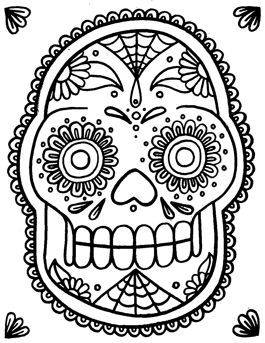sugar skull coloring pages printable yucca flats nm may 2012 pages sugar coloring skull printable