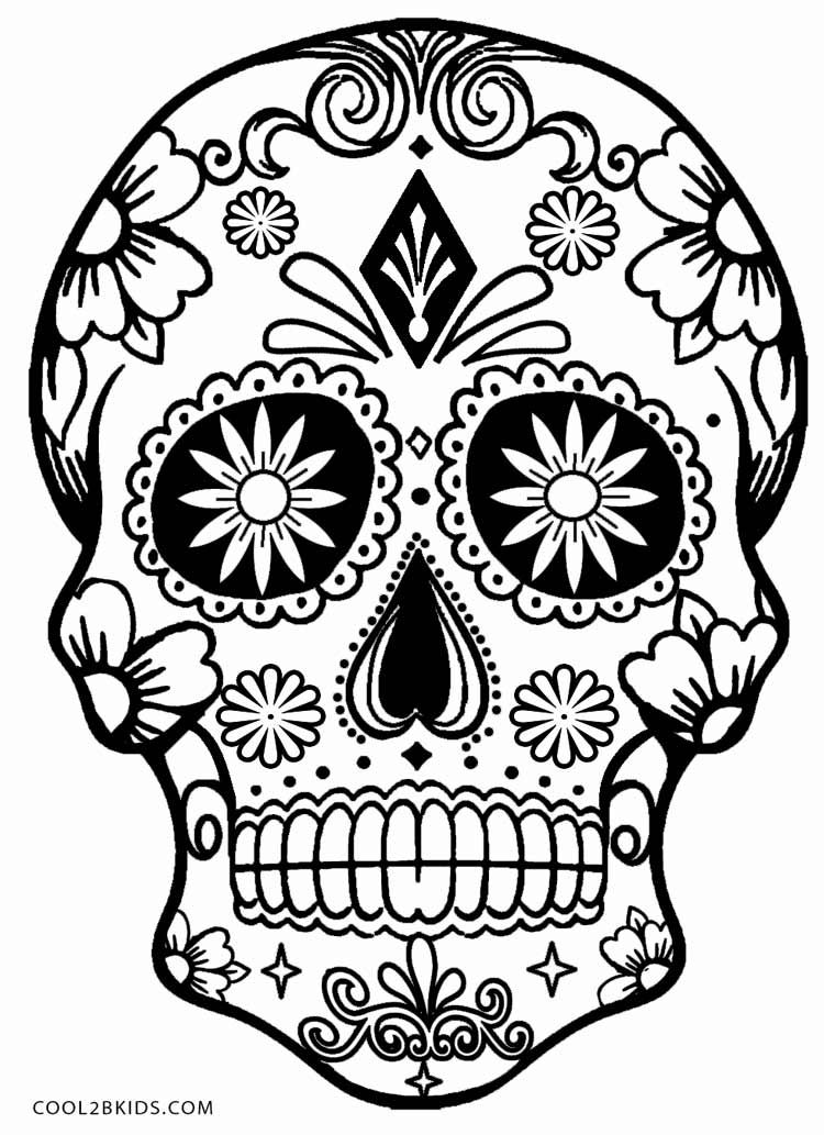 sugar skull coloring pages printable yucca flats nm october 2012 printable skull pages sugar coloring