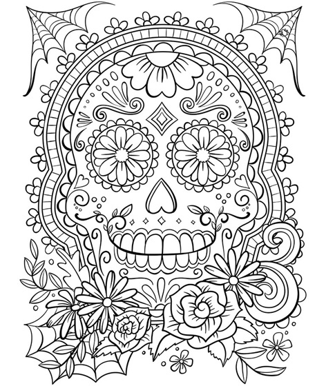 sugar skull coloring pages printable yucca flats nm wenchkin39s coloring pages sugar skull sugar skull coloring printable pages