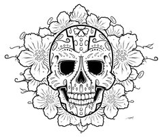 sugar skull with flowers 159 best coloring pages skulls images coloring pages with flowers skull sugar